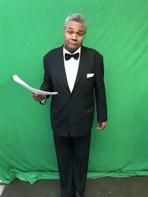 Darryl Maximilian Robinson as The Announcer in The 2020 Ark Theatre Company of North Hollywood Old Tyme Radio Hour production of The Dick Tracy Show-1.jpg