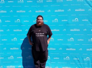 Joseph Carrillo promoting Viva Calle