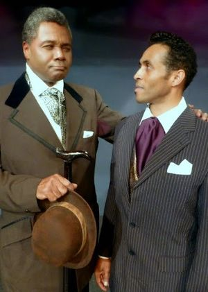 Darryl Maximilian Robinson as Booker T. Washington and Deus Xavier Scott as Coalhouse Walker, Jr. in Ragtime at The Westchester Playhouse in LA..jpg