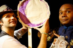 Christopher Karbo as El Gallo and Darryl Maximilian Robinson as Henry Albertson in the 2010 Hollywood Fringe Festival Revival of The Fantasticks at The Complex Theatre in LA..jpg