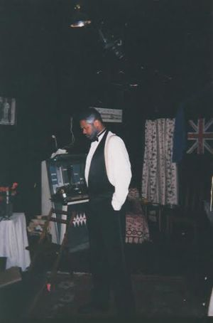 Excaliber Shakespeare Company of Chicago Founder Darryl Maximilian Robinson as Sam Semela in the ESC's 1997 revival of Athol Fugard's Master Harold And The Boys ..jpg