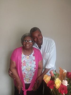Mrs. Dorothy Mae Robinson and her son Stage Actor and Play Director Darryl Maximilian Robinson..jpg