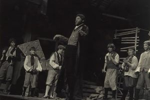 Darryl Maximilian Robinson as Fagin in the 1981 Enchanted Hills Playhouse of Syracuse, Indiana revival of Lionel Bart's Oliver!.jpg